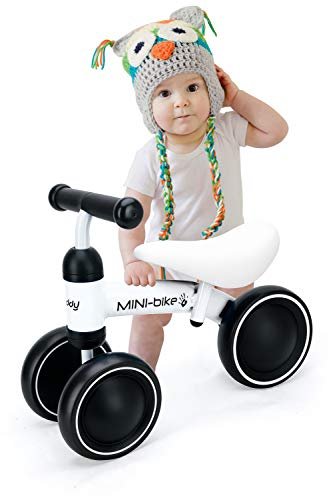 Baby Balance Bike Walker Toy Toddler Bicycle Stride Tricycle,Best First Birthday Gift for Girl and boy in 1 to 2 Years Old,Ride on Toys for Kids,Newborn and Little Child's Riding Vehicle