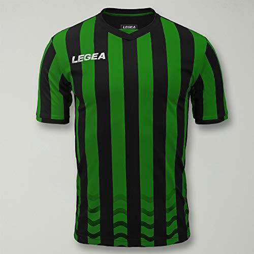Legea Herren Malaga Trainings-Trikot, Verde/Nero, L