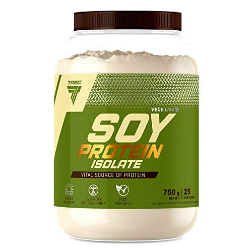 soy protein powders TREC Nutrition Soy Protein Isolate Powder 750g   Vanilla Flavor   Plant Anabolic Powder for Muscle Mass Growth   Suitable for Vegetarian Vegan