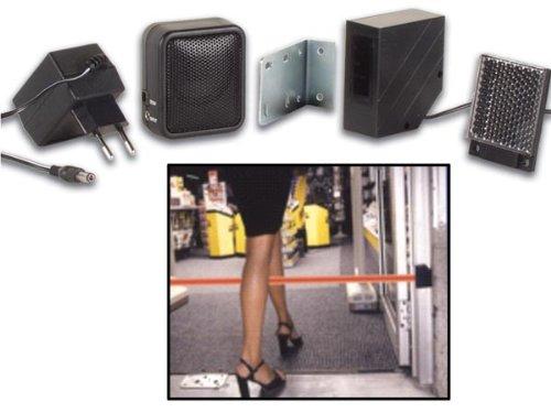 IR Reflektor Lichtschrankensystem inkl Netzteil und Gong (Lautsprecher) 230V AC Reichweite max 7m