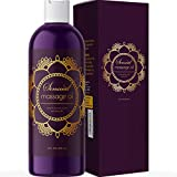 Sensual Massage Oil for Couples - No Stain Lavender Massage Oil for Massage Therapy and Relaxing Massage Oil with Sweet Almond Oil for Skin - Anti Aging Moisturizer and Natural Body Oil for Dry Skin