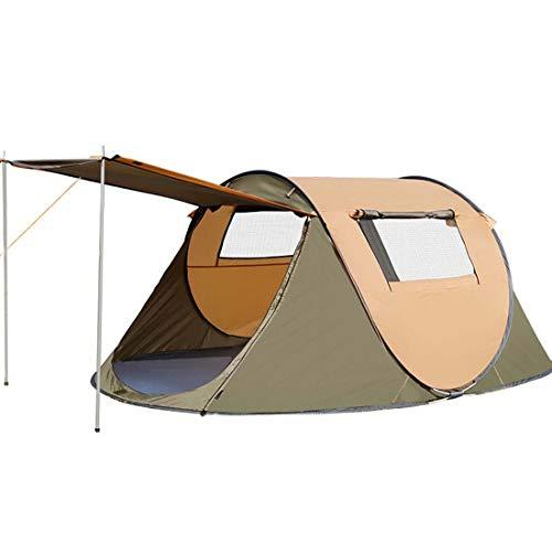SPFTOY Camping ZeltAußen 4-5 Person Vollautomatische Doppel Painproof Pop-Up Big Raum Zelte Camping Anti-UV-Camping-Zelt,Camel,2~3 People