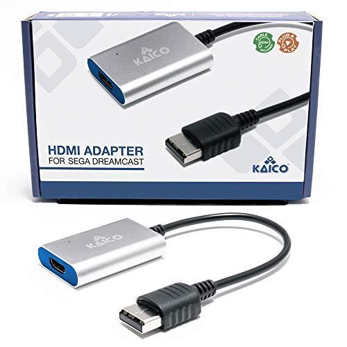 Sega Dreamcast HDMI Converter - Simple Plug and Play HDMI Converter For Sega Dreamcast - Por Kaico - Sega Dreamcast cable VGA a Dreamcast HDMI - El mejor cable AV Sega Dreamcast