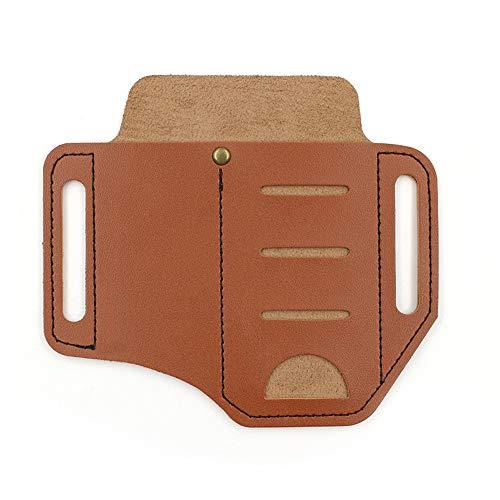 Gulin EDC Carry Tactical Tools Outdoor Multitool PU Leder Etui, Retro Leder Etui, Gürteltasche mit Schlüsselhalter für Gürtel und leichte Scheide Multitool Tasche Braun