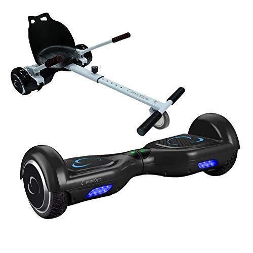 SMARTGYRO X2 + Go Kart Pack Black Skateboard Elettrico X2 UL (Hoverboard...