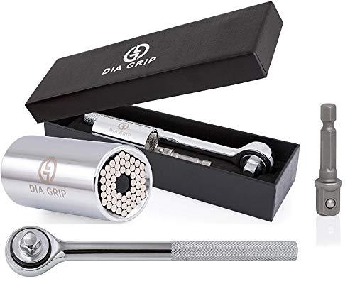 DIA-GRIP Universal Socket 3pcs Tool set (7-19mm) |Bushing Ratchet...