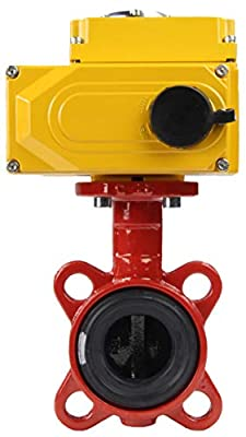 """Butterfly Valve Wafer PN16, Body/disc - cast Iron, seat - EPDM (250°F / 120°C) with Electric Actuator 110V ON/Off (2"""" (DN50)) by Vega Controls LLC"""