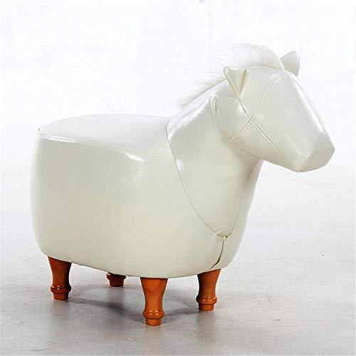 Leder Hocker/PU Leder Tier Hocker Pferd/Camping Stuhl Hocker/Massivholz Kissen Fußhocker/niedlichen Tierform dekorative Sofa Hocker Ottomane/Kindergartensitz