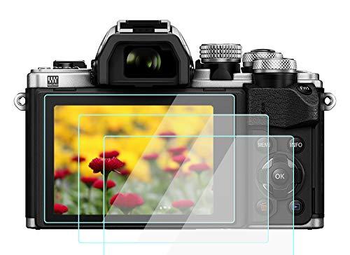 EM10 IV - Protector de pantalla para cámara Olympus E-M10 MK IV III II EM5II E-PL9 E-PL8 E-PL7, vidrio templado KOMET 9H antiarañazos [3 unidades)
