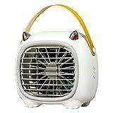 Nrew Ventilador de Aire Acondicionado portátil con Ventilador de enfriamiento de Aire Personal de 3 velocidades con Mango Blanco 180 * 115 * 166 mm