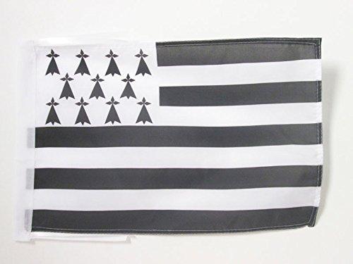 AZ FLAG Flagge Bretagne 45x30cm mit Kordel - Bretagne Fahne 30 x 45 cm - flaggen Top Qualität