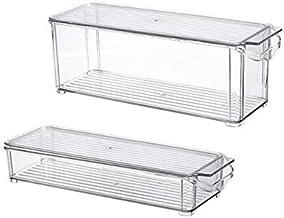 HUICHEN Kitchen Refrigerator Storage Box Slide Plastic Freezer Fridges Space Saver Holder Food Container Organizer Rack Sh...