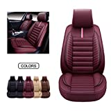 OASIS AUTO Leather Car Seat Covers, Faux Leatherette Automotive Vehicle Cushion Cover for Cars SUV Pick-up Truck...
