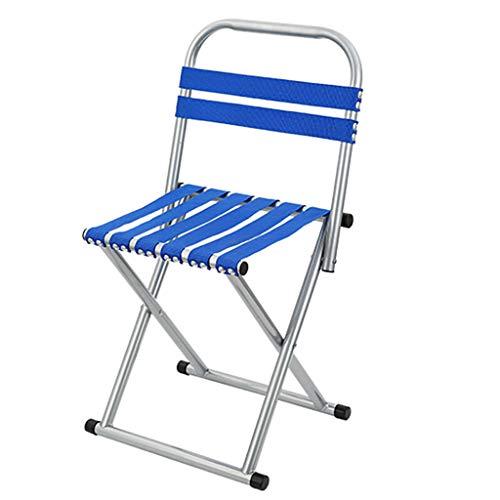 FH Chaise Pliante, Chaise De Pêche Arrière Multifonctionnelle Portative Extérieure, Tabouret De Loisirs Simple, Bleu (Taille : 35 × 30 × 60cm)