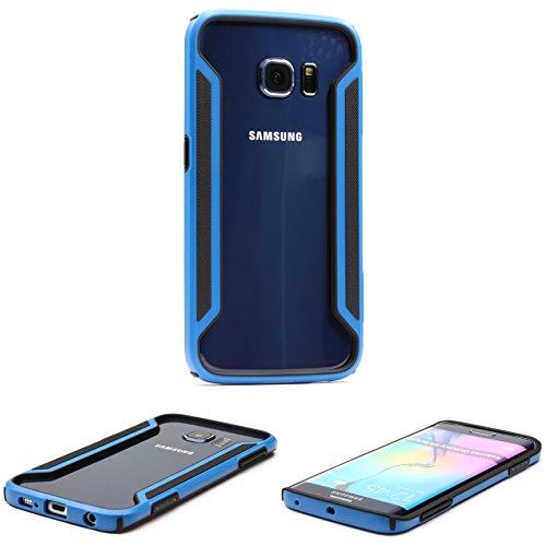 NILLKIN Funda Protectora Galaxy S6 Edge, Carcasa Smartphone Móvil Ultra Ligera Samsung Galaxy S6 Edge Backcase Suave TPU Antigolpe Anticaidas en Azul