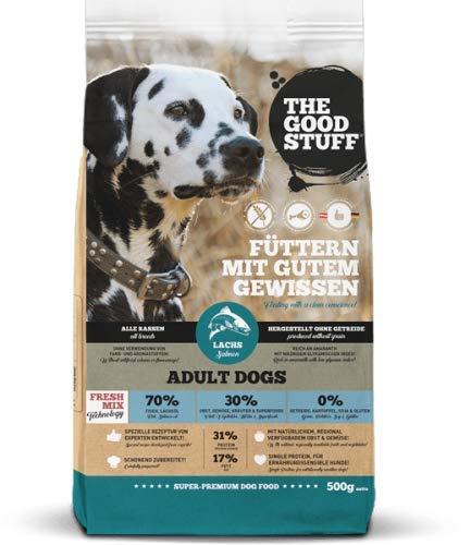 THE GOOD STUFF A BRAND OF MAMACHRIS PETFOOD GMBH | Salmon (Adult) | Hundefutter | Getreidefrei | Single-Protein | Frischfleisch Grösse 500g