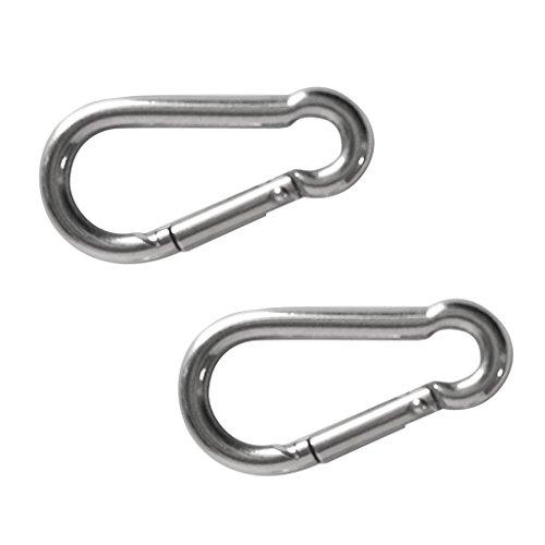 MagiDeal 2 Pièces Mousqueton Simple en Acier Inoxydable Carabiner Clip Attelage Rapide Boucle - M5