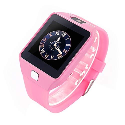 Nuobi Reloj Inteligente para niños, Reloj Inteligente para Llamadas telefónicas, con podómetro, calculadora, liviano con cámara electrónica para Estudiantes, niños(Pink)