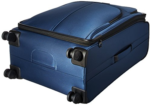 Samsonite Leverage LTE Softside Expandable Luggage with Spinner Wheels, Poseidon Blue, Checked-Large 29-Inch