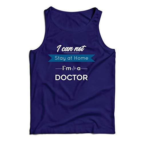 lepni.me Camisetas de Tirantes para Hombre No Puedo Quedarme en Casa Soy Doctor Apoyo Rregalo de Agradecimiento (Large Azul Multicolor)