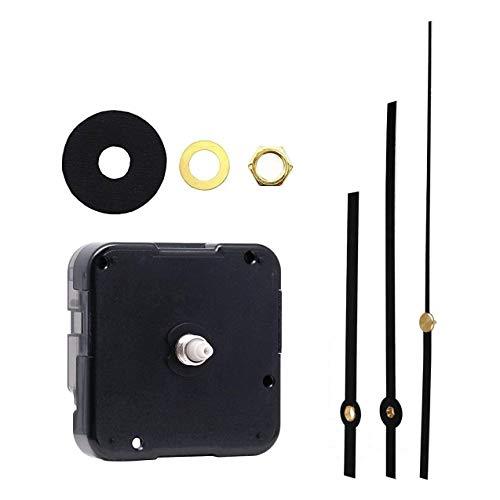 Queta Lautloses Quarz-Uhrwerk, Quarz DIY Wanduhr Uhrwerk Reparatursatz, Schaftlänge 4/5 Zoll/ 20 mm (1 Set)