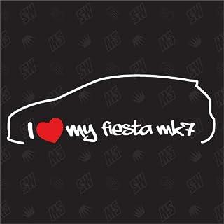 speedwerk motorwear I Love My Fiesta MK7   Sticker Kompatibel mit Ford   ab Bj. 2008
