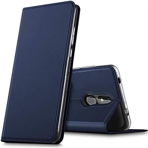 Verco Handyhülle für Nokia 3.2, Premium Handy Flip Cover für Nokia 3.2 Hülle [integr. Magnet] Book Hülle PU Leder Tasche, Blau