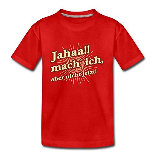 Pubertät Jahaa Teenie Rahmenlos® Teenager Premium T-Shirt, 146-152, Rot