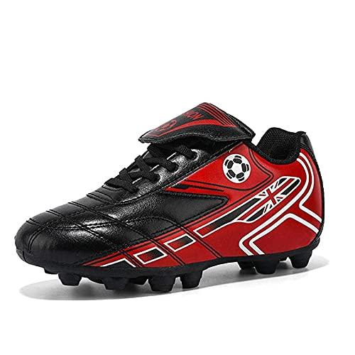 ZAILO Zapatillas De Fútbol Niño FG/TF Profesionales Aire Libre Atletismo Calzado De Entrenamiento Antideslizante Y Resistente Al Desgaste Botas De Fútbol para Hombres(Size:31EU,Color:Rojo)