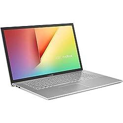 ASUS VivoBook S17 S712JA (90NB0SZ1-M01300) 43,9 cm (17,3 Zoll, Full HD, matt) Notebook (Intel Core i3-1005G1, Intel UHD Graphics, 8GB RAM, 512GB SSD, Windows 10) Transparent Silver
