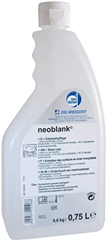 Neoblank Stainless 2021new shipping free Steel Care Lubricant Large special price !! 75 Neodisher by cl