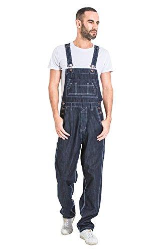 Wash Clothing Company Latzhose, Lose Passform - Dunkelblau billige LatzJeans Herren Jeanslatzhose MADDOXDARKBLUE-XXXXL-44
