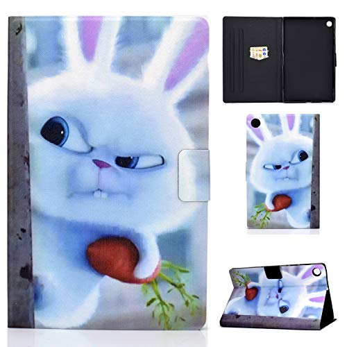 AsWant Hulle fur Lenovo Tab M10 Plus 103 Zoll Folio Flip Brieftasche Etui Karte Steckplatz Magnetisch Tablet Schutzhulle fur Lenovo Tab M10 Plus FHD 103 TB X606XTB X606F Snowball Rabbit