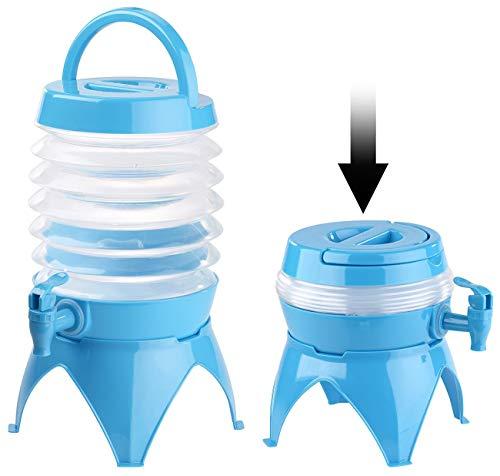 Ruisy tragbarer Faltbar Outdoor Wasserkanister Eimer Wasserbehälter kampierendes trinkender Speicher-Eimer Wasserspender 5,5 Liter, blau