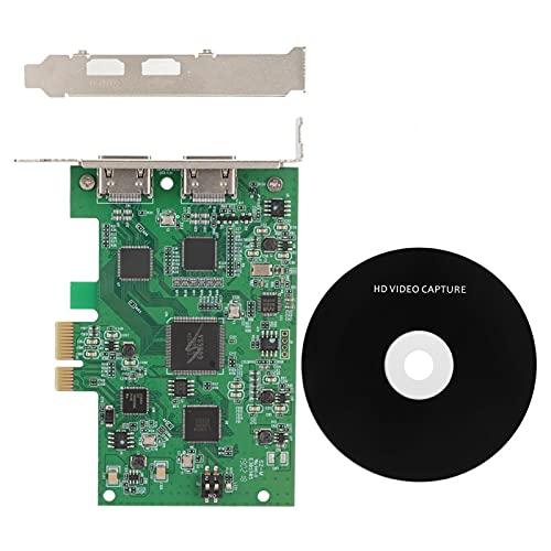 Shipenophy Tarjeta de Captura portátil de Video HD 1080P 60fps Grabadora de Tarjetas en Vivo compacta para videoconferencia para educación a Distancia