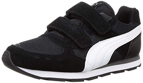 Puma Unisex-Kinder Vista V PS Sneaker, Schwarz (Puma Black-Puma White/01), 35 EU