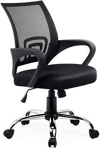 Umi. Essentials Bürostuhl Schreibtischstuhl Ergonomischer Bürodrehstuhl Computer Stuhl Chefsessel(Schwarz)