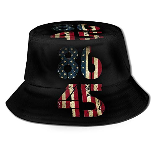 Cappello da Pescatore Cappelli da Pescatore 8645 Impeach Trump Distressed Bandiera Americana Moda Cappello da Pescatore Berretto da Pescatore Visiera da Esterno Cappello da Sole Nero