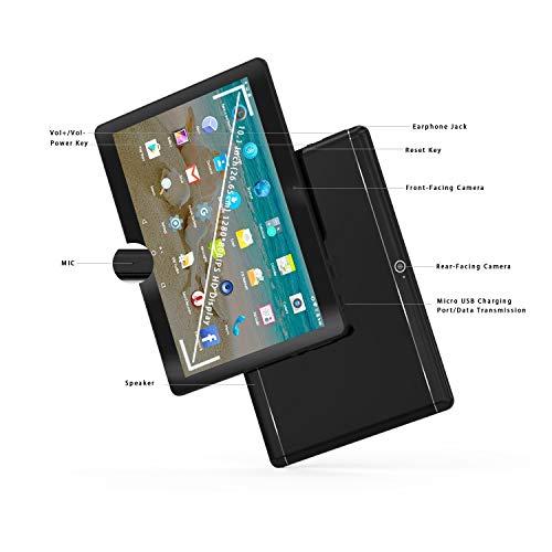 Android 8.1 Tablet 10 Zoll Dual-SIM, 4GB RAM 64GB Speicher Octa Core CPU, 1920 * 1200 Full HD IPS Touchscreen,Dual Kamera 3MP und 8MP, WiFi/WLAN/Bluetooth/GPS TYD-108(Schwarz) (Metall Schwarz)