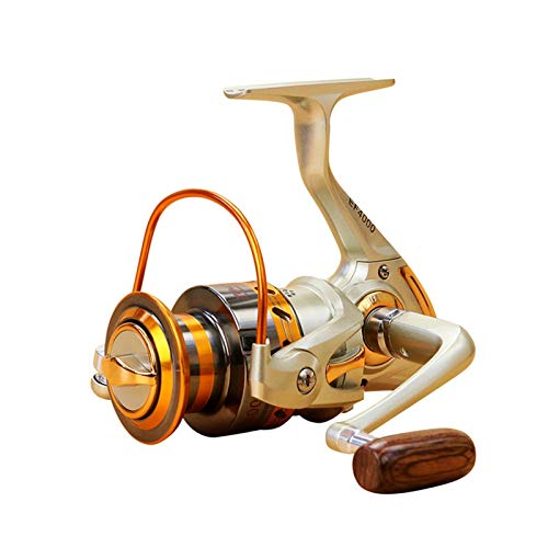 OYPY Serie Distant Wheel Metal Spinning Reel de Pesca 5.5: 1 12 Bolas de rodamiento Rueda de Pesca Gire la Bobina de Pesca del Carrete (Color : 12, Talla : 7000 Series)