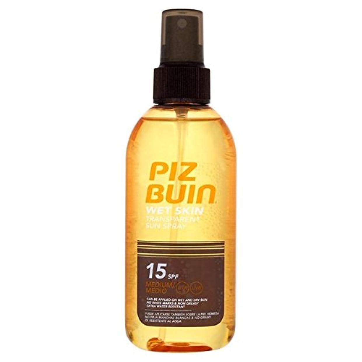 流行空虚侵略ピッツブーインの湿った透明肌15の150ミリリットル x4 - Piz Buin Wet Transparent Skin SPF15 150ml (Pack of 4) [並行輸入品]