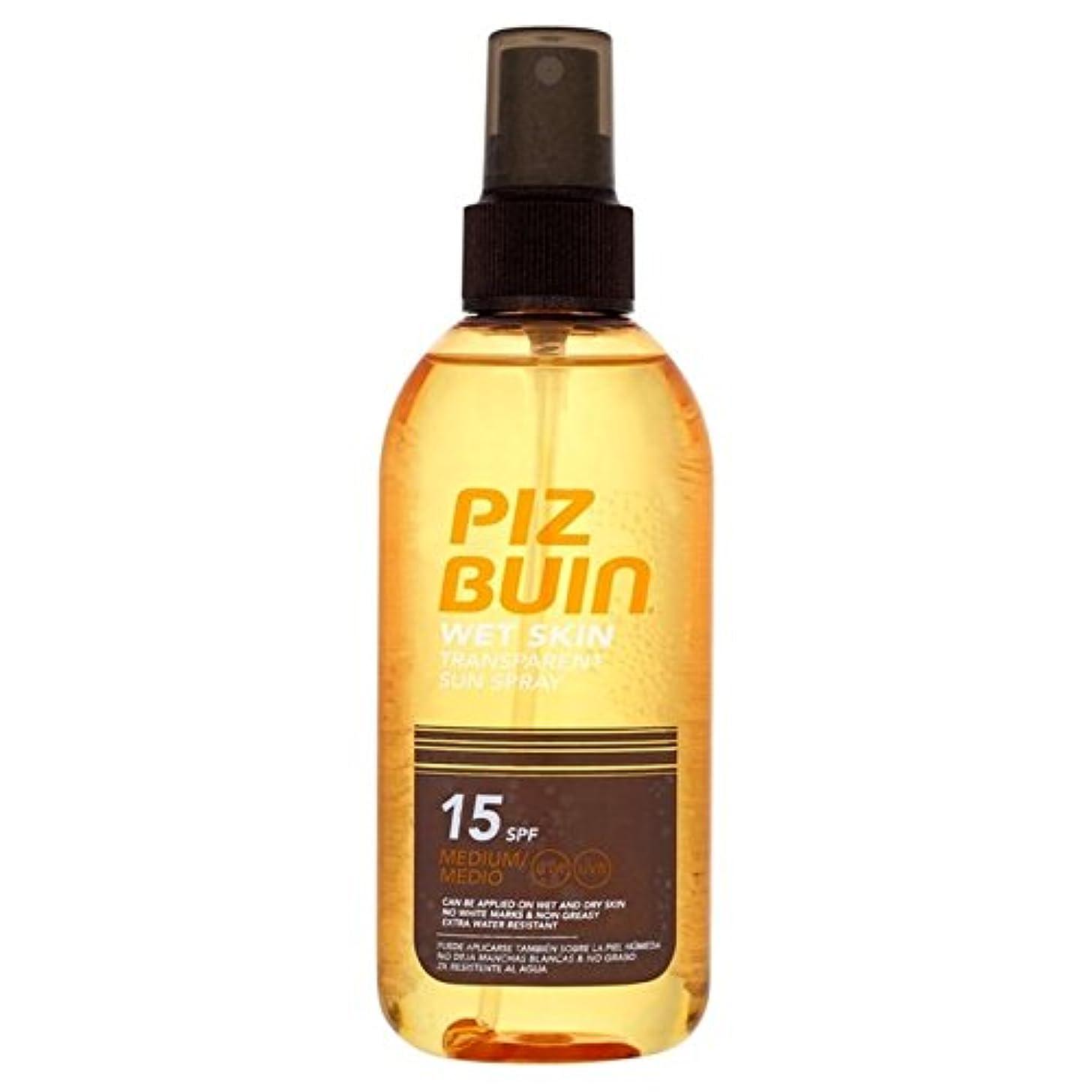 したいマリン残り物ピッツブーインの湿った透明肌15の150ミリリットル x4 - Piz Buin Wet Transparent Skin SPF15 150ml (Pack of 4) [並行輸入品]