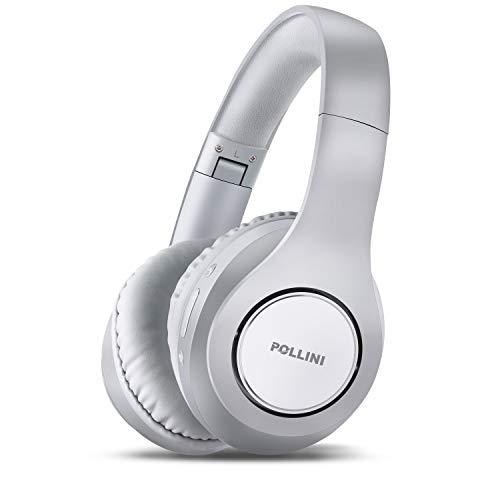 Bluetooth Headphones Over Ear, Pollini Wireless Headset V5.0 with Deep...