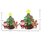 ユンジークリスマスツリーの装飾DIY手作りのクリスマスツリージュエリーのドアの壁装飾子供用ギフトホームパーティー手仕事の装飾 光なし 大 光なし 布