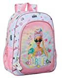 safta 612110180 Mochila Escolar Niños de Barbie Girl Power, 330x140x420mm, Multicolor, Talla única (M180)
