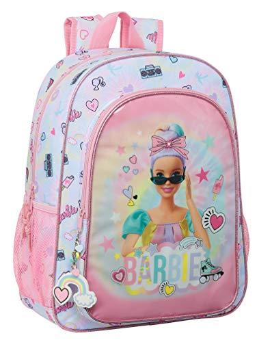 safta 612110180 Mochila Escolar Niños de Barbie Girl Power, 330x140x420mm, Multicolor, Talla única (M180)