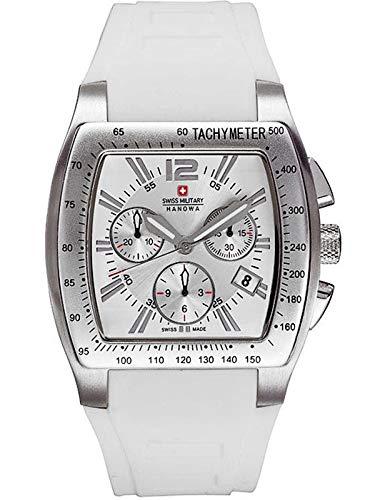 Swiss Military Hanowa 06-4115.04.001 Night Rider - Reloj de pulsera para hombre (correa de silicona, cronógrafo, 10 bares, fecha de 06-4115.04.0