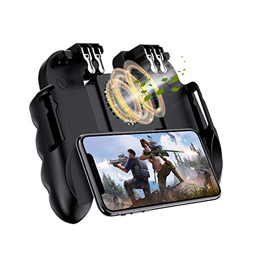 コントローラー 6本指 スマホゲーム サイレント冷却 6S高速放熱 高感度 耐久 射撃ゲーム コントローラー