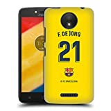 Head Case Designs Oficial FC Barcelona F. De Jong 2019/20 Jugadores Away Kit Grupo 1 Carcasa rígida Compatible con Motorola Moto C Plus