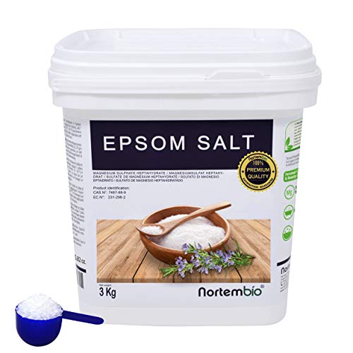 NortemBio Sal de Epsom 3 Kg. Fuente Concentrada de Magnesio. Sales 100%...